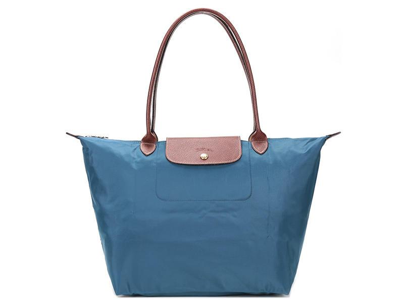 【包邮装】Longchamp 珑骧 孔雀蓝尼龙女士手提包 1899089A56 优惠价格:699元