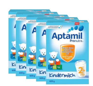【德国DC】【5盒组合装】Aptamil 爱他美 超市版 婴幼儿配方营养奶粉 2+ 2岁及以上 600g5盒