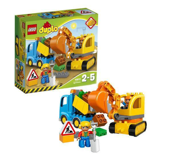【德国BA】LEGO乐高 卡车和挖掘机 德宝系列 28粒 2-5岁