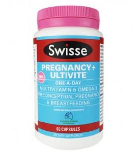 新西兰Swisse 孕妇全面综合营养片含DHA和钙 60粒