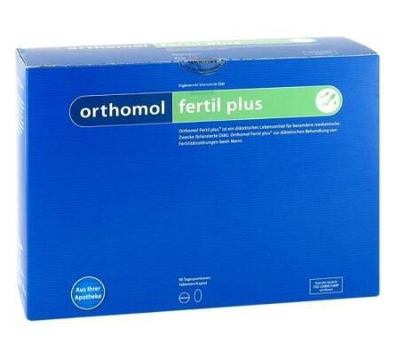 【德国BA】Orthomol 奥适宝 Fertil Plus 男性备孕提高精子活力营养胶囊 90袋