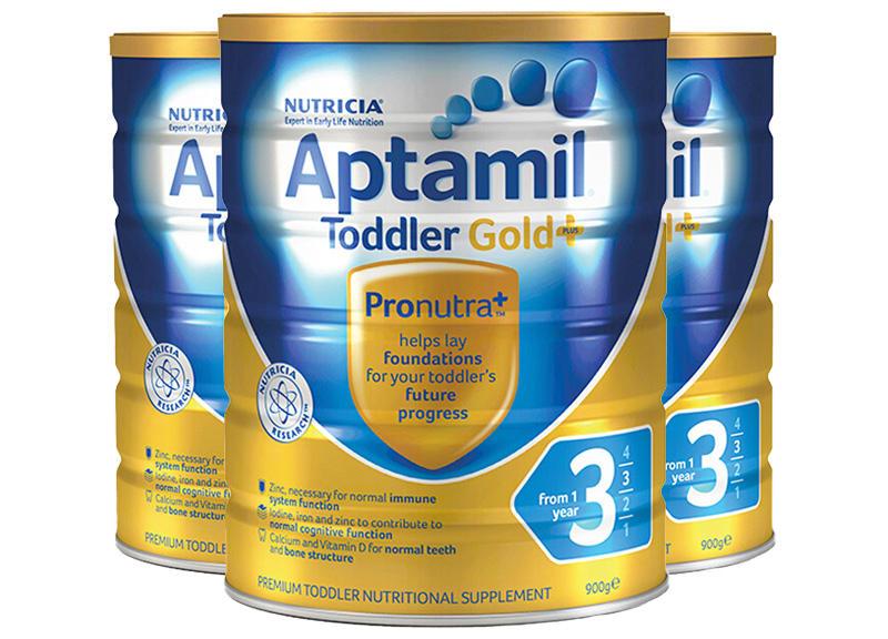 【3件包邮装】Aptamil 爱他美 金装版三段婴幼儿奶粉 3900g 罐 优惠价格:428元(需用码A60)