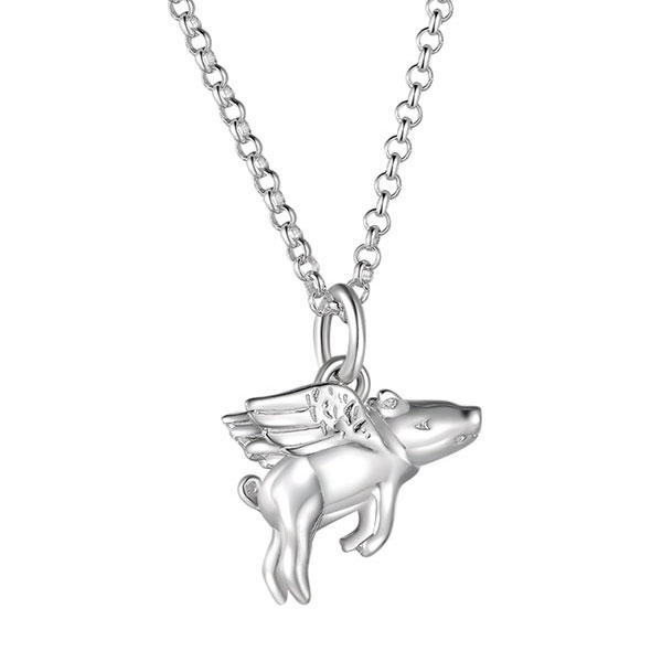 【包邮装】Lily charmed 飞天小猪925纯银项链 1条 优惠价格:209元