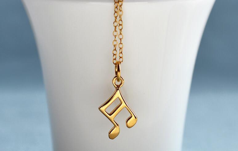 【包邮装】Lily charmed 金色音阶符项链 1条 优惠价格:249元