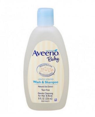 美国Aveeno Baby艾维诺宝宝天然燕麦洗发沐浴液236ml