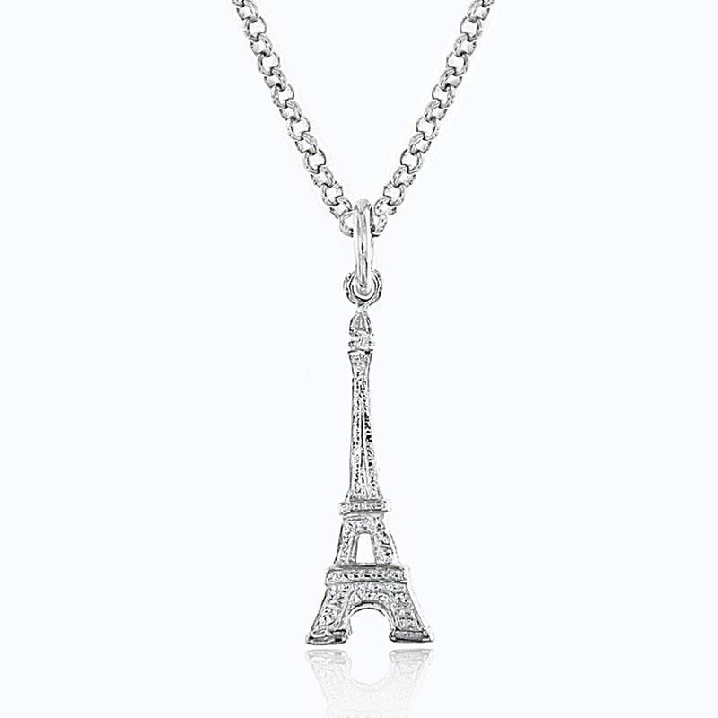【包邮装】Lily charmed 银色埃菲尔铁塔匙项链 1条 优惠价格:199元