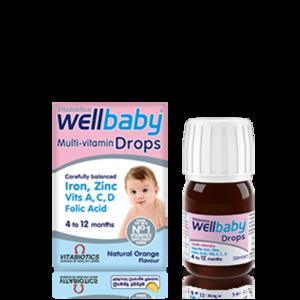【免邮+8折】Vitabiotics Wellbaby 婴儿复合维生素营养滴剂 4-12个月 30ml