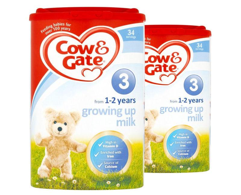 【2件包邮装】Cow&ampGate 英国原装牛栏奶粉 3段 (1-2岁) 2900g/罐  优惠价格:329元