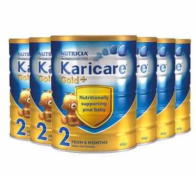 【包邮包税】Karicare 可瑞康金装婴儿奶粉 2段 900g6罐 新西兰直邮包邮包税