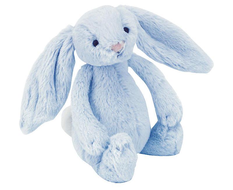 【包邮装】JellyCat 柔软安抚玩偶邦尼兔 1只(蓝色 /M中号/31cm) 优惠价格:179元
