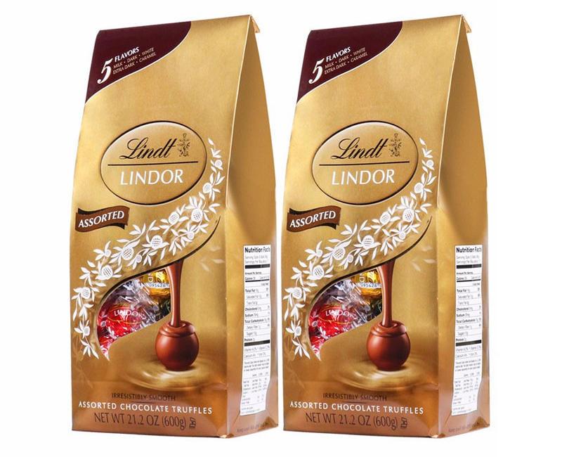 【2件包邮装】Lindt 瑞士莲 软心巧克力球 250粒/袋(5种口味混合装) 优惠价格:198元