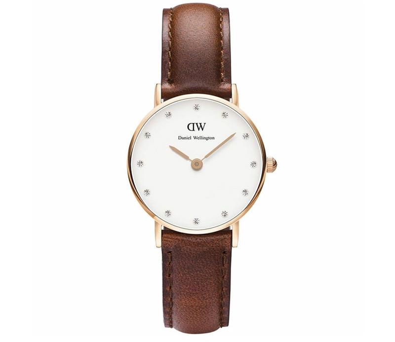 【下单立减100元{包邮装}】Daniel Wellington 丹尼尔·惠灵顿 女士超薄石英手表