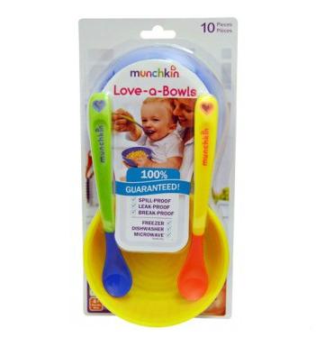 【限时特价】Munchkin麦肯齐婴儿辅食碗10件套约¥45