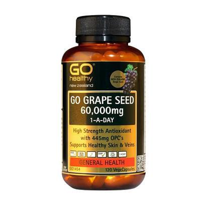 【新西兰PD】【凑单品】GO Healthy 高之源 60000mg 葡萄籽精华胶囊 120粒 NZ$38.5/约¥178