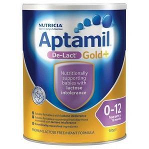 【澳洲RY药房】Aptamil 澳洲爱他美 金装婴幼儿配方奶粉 无乳糖(1-2段)0-12月 900g