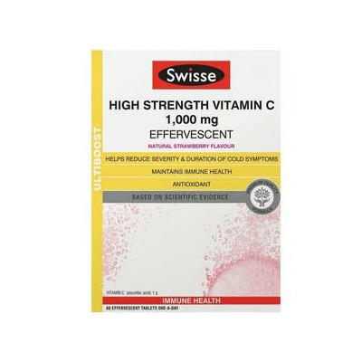 【澳洲RY药房】Swisse 强效维生素C泡腾片 60片