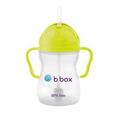B.box 婴幼儿重力球吸管杯 防漏 240ml 限量版 菠萝绿 (6个月以上)