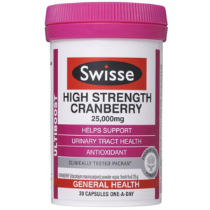 【澳洲P4L药房】【限时特价】Swisse 强效蔓越莓精华胶囊(女性健康) 30粒