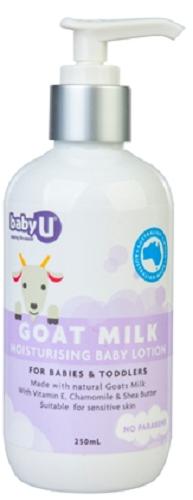 【澳洲RY药房】Baby U 山羊奶婴儿身体保湿乳液 250ml
