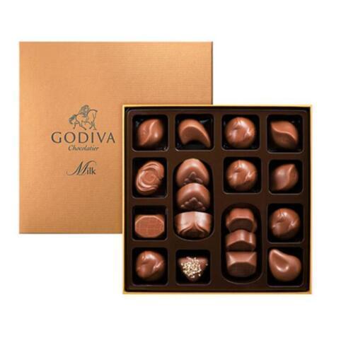【德国BA】Godiva 歌帝梵金装牛奶巧克力礼盒 18颗 220g