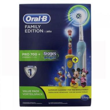 Oral B 欧乐B家庭装 Pro700成人电动牙刷 +儿童电动牙刷米奇款