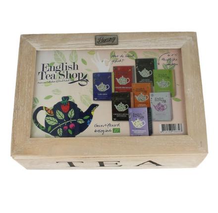 【荷兰DOD】English Tea Shop 英国有机什锦茶包 木质礼盒装 30包
