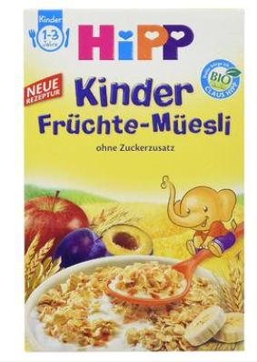 【德国DC】Hipp 喜宝 多种有机水果麦片 200g 1-3岁宝宝辅食 不含糖