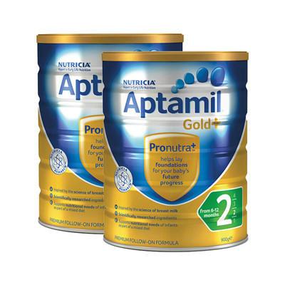 【新西兰PD】【3罐包邮装】Aptamil 爱他美 金装版婴幼儿奶粉 900g 2段 NZ$129.00/约¥602