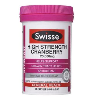 【澳洲CD药房】Swisse 澳洲蔓越莓精华胶囊 30片(女性必备)