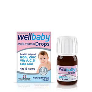【畅销8折】Vitabiotics Wellbaby 婴儿复合维生素营养滴剂 4-12个月 30ml