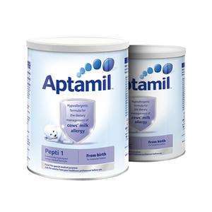 【2罐包邮装】Aptamil 爱他美 深度水解抗牛奶蛋白过敏配方奶粉1段(0-6m) 800g2罐