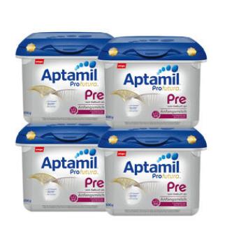 【德国DC 】【用码DCMILK包邮到手】【4盒套装】Aptamil 爱他美 Profutura 白金版Pre段新生儿奶粉 800g4盒