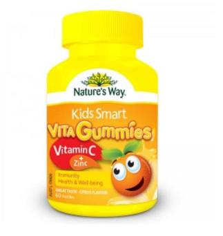 【澳洲CD药房】Nature's Way 佳思敏 Kids Smart儿童维生素C+锌软糖 60粒