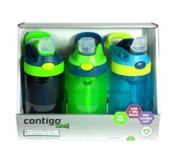 【澳洲CD药房】Contigo 康迪克防漏儿童水杯414mlX 3 不含BPA (男宝版)