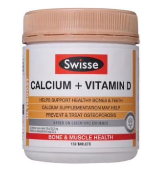 【澳洲CD药房】Swisse 钙+维生素D片 150片(成人补钙)