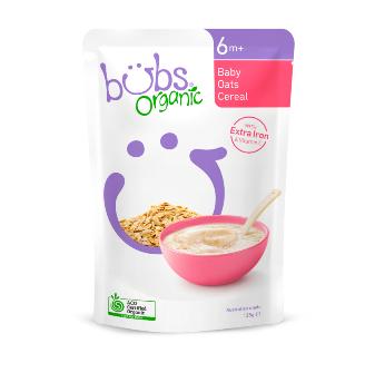 【澳洲CD药房】Bubs 婴儿辅食燕麦麦片 125g