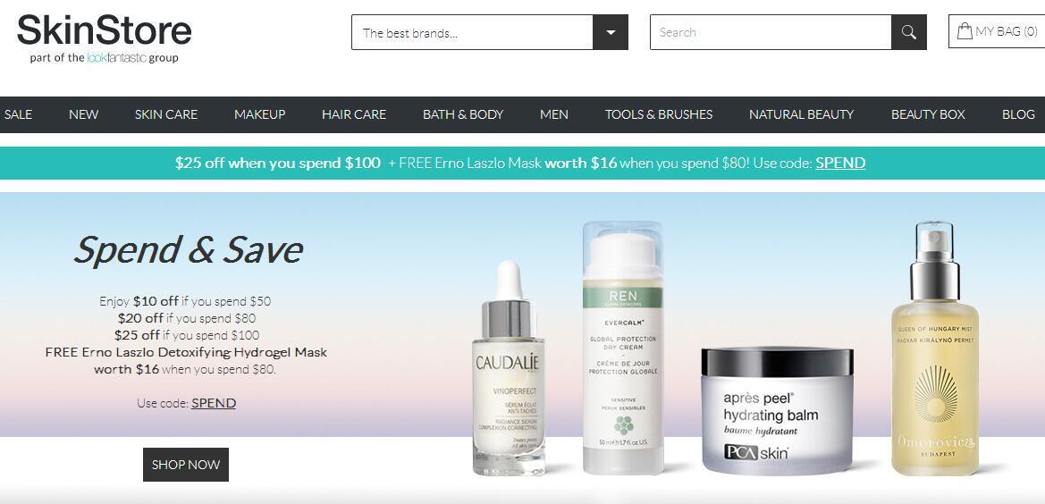 SkinStore多少包邮? SkinStore运费怎么算?