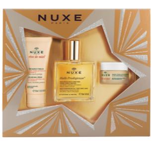 【德国DC】NUXE 欧树 万能油套盒:50ML万能油 万能神奇护理油+15g 护唇膏+30ML手霜