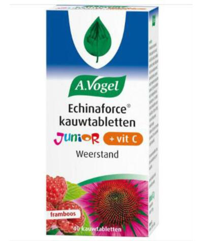 【荷兰DOD】A.Vogel 儿童纯天然紫锥菊+维生素C咀嚼片 2岁以上 40片(盆覆子味)