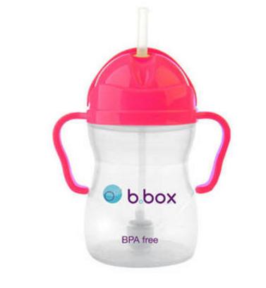 【澳洲PO药房】【母婴活动】B.box 婴幼儿重力球吸管杯 防漏 240ml 粉红色 (6个月以上)
