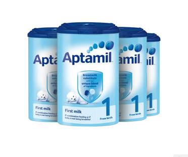 【4罐包邮装+满65减3】Aptamil 爱他美 婴儿配方奶粉1段(0-6m) 900g4罐