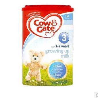 【满65镑立减3镑】Cow & Gate 牛栏 幼儿配方奶粉3段 (1-2岁幼儿)900g