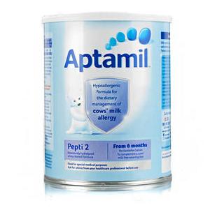 【满65磅立减3磅】Aptamil 爱他美 深度水解抗牛奶蛋白过敏配方奶粉2段(6-12m) 800g