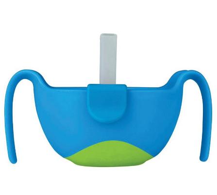 B.box 三合一双手柄吸管碗 便携/密封 海水蓝