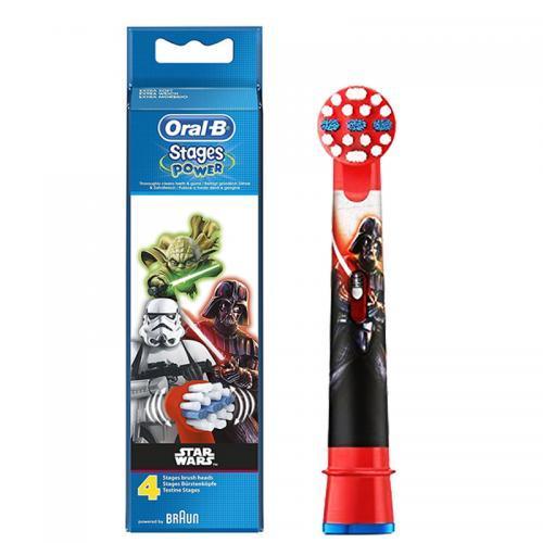 新年礼!BRAUN博朗欧乐BOral-b儿童电动牙刷替换刷头4支装星球大战款 到手129元!