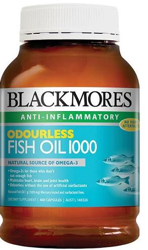 【澳洲RY药房】【降三高】BLACKMORES 澳佳宝 无腥鱼油(调血脂/心血管健康) 1000mgx400粒