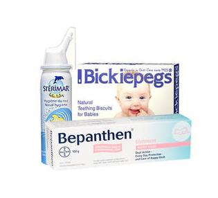 【特价】宝宝全面护理套装 鼻腔喷雾+磨牙棒+湿疹屁屁霜