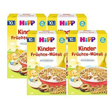 【德国DC药房】【4盒特惠装】Hipp 喜宝 多种有机水果全麦谷物麦片 200g 10个月以上宝宝辅食
