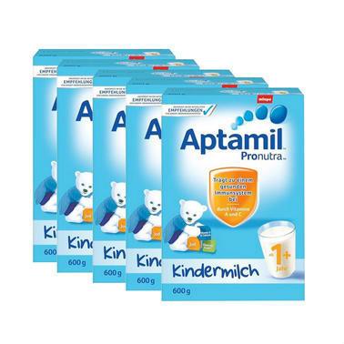 【德国DC药房】Aptamil 爱他美 超市版 婴幼儿配方营养奶粉 1+ 1岁及以上 600g5盒