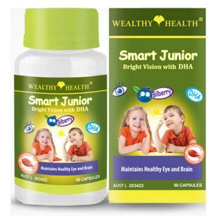 【2.11】【澳洲PO药房】【一周限时抢】Wealthy Health富康 儿童护眼鱼油60粒+更多特价单品